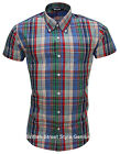 Relco Short Sleeve Bold Check Shirt CK19 - Multi Colour 60s Button Down Mod Skin