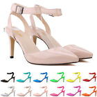 LADIES WOMENS MID HEEL MARY JANE OFFICE WORK FORMAL STRAP DOLLY SHOES SIZE 2-9