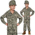 CK571 Soldier Army Military Hero Boys Child Fancy Dress Book Week Kids Costume