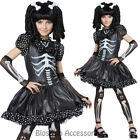 CK573 Skeleton Girls Halloween Fancy Dress Up Scary Horror Gothic Dark Costume
