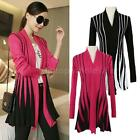 Women's Ladies Knitted Sweater Long Sleeve Knitwear Cardigan Coats Outwear Tops