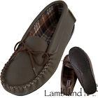 Lambland Ladies / Womens Dark Brown Genuine Leather Moccasins with PVC Sole