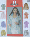 Misses Shirt Top Sewing Pattern Sheer Overlay Option Collar Sleeve Vary 3610