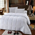 All Season White Down Alternative Quilted Comforter Ultra Soft Microfiber Fill image