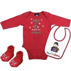 Baltimore Ravens Baby's 1st Christmas Long Sleeve Bodysuit, Bib and Booties Set $9.99 USD on eBay
