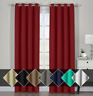 Kyпить Pair Ava Blackout Window Curtains with Tie Backs Set Thermal Insulated Draperies на еВаy.соm