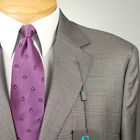 50L STEVE HARVEY  Grey Plaid SUIT SEPARATE  50 Long Mens Suits - SS30