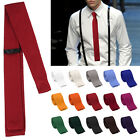 Men's Fashion Solid Tie Knit Knitted Tie Necktie Narrow Slim Skinny Woven