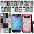 For Samsung Galaxy J1 J100 SLIM FIT PATTERN HARD Case Back Phone Cover + Pen