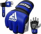 RDX Leather MMA Gloves Grappling UFC Fight Boxing Punch Bag Training Sparring