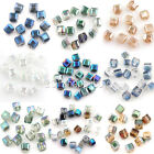 Top Quality 50/100PCS Colorful Crystal Cube Faceted Loose Spacer Craft Beads 5mm