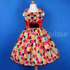 NEW Flower Girl Wedding Pageant Princess Party Birthday Dress Red SZ 4-9 Q846