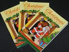 Mini Christmas sticker books or colouring books Stocking fillers FREE POSTAGE