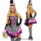 K100 Mad Hatter Costume Tea Party Alice In Wonderland Fancy Dress Party Outfit