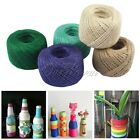 Twisted Burlap Hessian Jute Bow Craft Gift Wrap String Rustic Rope Ribbon 100M