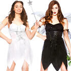 Bad & Good Fairy Ladies Fancy Dress Fairytale Fantasy Story Book Adults Costumes