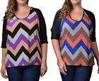 NEW WOMEN Dolman-Style Elbow Sleeves High Low Top Multi-Color XL, Plus 1X 2X