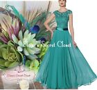 BNWT BRYONY Teal Lace Chiffon Maxi Bridesmaid Ballgown Dress UK Sizes 6 -18