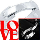 925 Sterling Silver Matte Shiny Secret Message Love Lock Promise Ring Size 3-11
