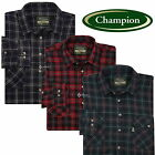 Mens Champion Kilbeggan 100% Cotton Check Shirt Sizes M-3XL Work Fishing Outdoor