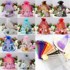 Hotsell 25/50/100PCS Organza Gift Bag Jewelry Pouch Wedding Favor Bags 9x7cm