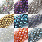 50/100PCS Czech Style Crystal Spacer Loose Round Beads 6mm For Jewelry Making