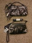 NEW SMALL STYLE & CO PEWTER OR PURPLE COIN WALLET AMBITIOUS MINI CLUTCH MSRP $28