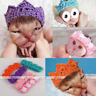 Newborn Baby Girl Boy Crochet Knit Crown Hat Photo photography Prop Handmade
