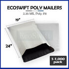 "1-1000 19 x 23 ""EcoSwift"" Poly Mailers Envelopes Plastic Shipping Bags 2.35 MIL"
