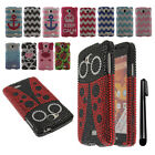 For LG Tribute LS660 DIAMOND BLING CRYSTAL HARD Case Phone Cover + Pen