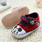 Adorable Baby Boys Mickey Mouse Red Disney Casual Shoe.. Pre Walker Shoe