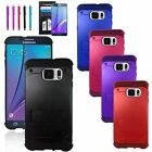 Hybrid Rugged Rubber Stand Hard Case Cover+Pen+Film For Samsung Galaxy Note 5