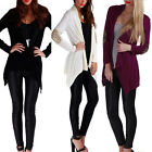 Women Casual Loose Slim Cardigan Blouse Long Sleeve Patchwork Outerwear Tops