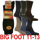 6 or 12 Pairs Men's Big Foot Thick Winter Warm Thermal Socks shoe size 11-13 ½