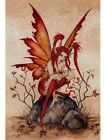 New Little Red Mischief Fairy Amy Brown Poster