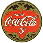 New Coca Cola Only 5 Cents Coke Metal Tin Sign