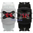 Cool Mens Boys Drone Silicone Strap Band LED Digital Sports Casual Wristwatch