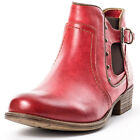 Mustang 1167511 Womens Synthetic Leather Red Ankle Boots New Shoes All Sizes