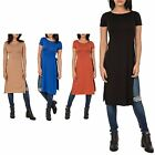 Hidden Fashion Womens Ladies Longline Maxi T.shirt with Side Splits