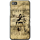 Vintage Grunge Music Notes Hard Case For Blackberry Z10