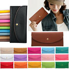 AS Womens Lady Leather Bifold Wallet Clutch Coin Purse Long Handbag Card Holder