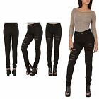 Hidden Fashion Womens Ladies Distressed Ripped Black Denim Oversized Jeans
