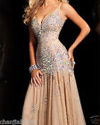 Stunning Sequins Beaded Corset Evening/Formal/Ball gown/Party/Prom Dresses  fd