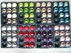 10 Luxury Glass Shiny baubles Silver Gold Red Green Purple Champagne Pink Blue