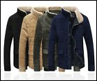 New Mens Casual Slim Fit Zipper Slim Fit Thicken Outwear Overcoats Coats Jackets