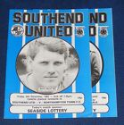 SOUTHEND UNITED HOME PROGRAMMES 1985-1986