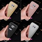 Luxury Ultra-Thin Aluminum Metal Frame Case Mirror Back Cover for Samsung Phone