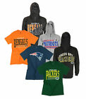 NFL Football Men's Full Zip Hoodie and T-Shirt Combo - Patriots, Packers, etc.