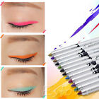 12 Colors Women Makeup Waterproof Eyeliner Matte Pencil Pen Liner Eye Cosmetic