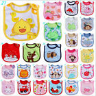 Newborn Toddler Infant Babys Boy Girl Kids Bibs Waterproof Saliva Cartoon Towel